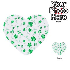 Sweet Shiny Floral Green Multi-purpose Cards (Heart)