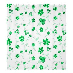 Sweet Shiny Floral Green Shower Curtain 66  X 72  (large)