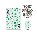 Sweet Shiny Floral Green Playing Cards 54 (Mini)  Front - SpadeQ