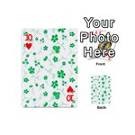 Sweet Shiny Floral Green Playing Cards 54 (Mini)  Front - Heart10