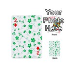 Sweet Shiny Floral Green Playing Cards 54 (Mini)  Front - Diamond2