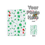 Sweet Shiny Floral Green Playing Cards 54 (Mini)  Front - Diamond4