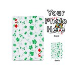 Sweet Shiny Floral Green Playing Cards 54 (Mini)  Front - Diamond5