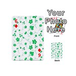 Sweet Shiny Floral Green Playing Cards 54 (Mini)  Front - Diamond6