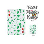 Sweet Shiny Floral Green Playing Cards 54 (Mini)  Front - Diamond8