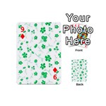 Sweet Shiny Floral Green Playing Cards 54 (Mini)  Front - Diamond9