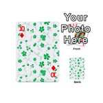 Sweet Shiny Floral Green Playing Cards 54 (Mini)  Front - Diamond10