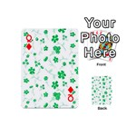 Sweet Shiny Floral Green Playing Cards 54 (Mini)  Front - DiamondQ