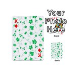Sweet Shiny Floral Green Playing Cards 54 (Mini)  Front - DiamondK