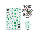 Sweet Shiny Floral Green Playing Cards 54 (Mini)  Front - Club10
