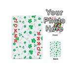 Sweet Shiny Floral Green Playing Cards 54 (Mini)  Front - Joker2
