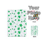 Sweet Shiny Floral Green Playing Cards 54 (Mini)  Back