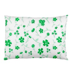Sweet Shiny Floral Green Pillow Cases (Two Sides)