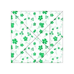 Sweet Shiny Floral Green Acrylic Tangram Puzzle (4  x 4 )