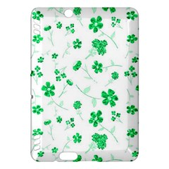 Sweet Shiny Floral Green Kindle Fire Hdx Hardshell Case