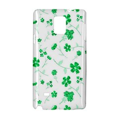 Sweet Shiny Floral Green Samsung Galaxy Note 4 Hardshell Case