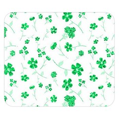 Sweet Shiny Floral Green Double Sided Flano Blanket (small)