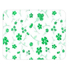 Sweet Shiny Floral Green Double Sided Flano Blanket (Large)