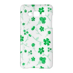 Sweet Shiny Floral Green Samsung Galaxy A5 Hardshell Case