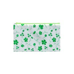 Sweet Shiny Floral Green Cosmetic Bag (xs)