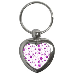 Sweet Shiny Floral Pink Key Chains (heart)