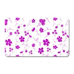 Sweet Shiny Floral Pink Magnet (rectangular)