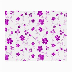 Sweet Shiny Floral Pink Small Glasses Cloth
