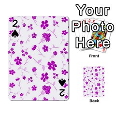 Sweet Shiny Floral Pink Playing Cards 54 Designs