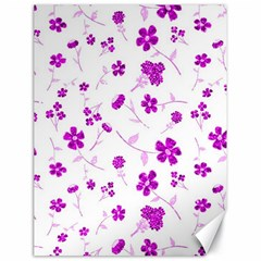 Sweet Shiny Floral Pink Canvas 18  X 24