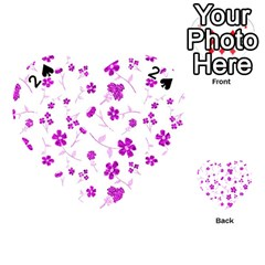 Sweet Shiny Floral Pink Playing Cards 54 (Heart)