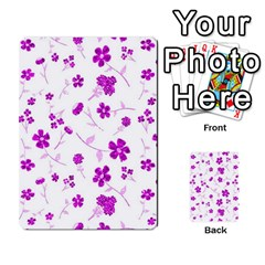 Sweet Shiny Floral Pink Multi-purpose Cards (Rectangle)