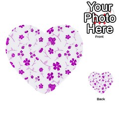 Sweet Shiny Floral Pink Multi-purpose Cards (Heart)