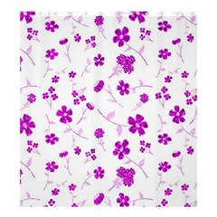 Sweet Shiny Floral Pink Shower Curtain 66  x 72  (Large)