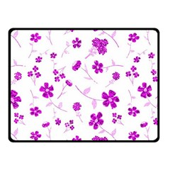 Sweet Shiny Floral Pink Fleece Blanket (Small)