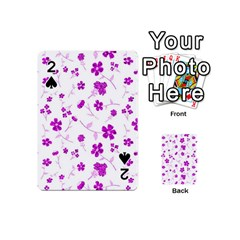 Sweet Shiny Floral Pink Playing Cards 54 (Mini)
