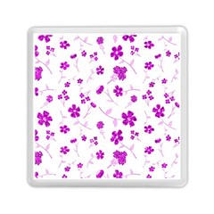 Sweet Shiny Floral Pink Memory Card Reader (square)