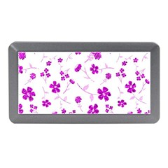 Sweet Shiny Floral Pink Memory Card Reader (Mini)