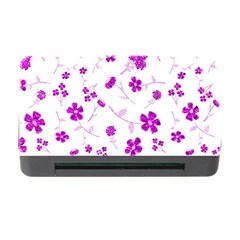 Sweet Shiny Floral Pink Memory Card Reader with CF