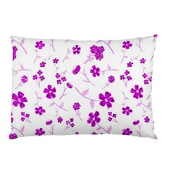 Sweet Shiny Floral Pink Pillow Cases (Two Sides)