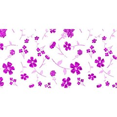 Sweet Shiny Floral Pink YOU ARE INVITED 3D Greeting Card (8x4)