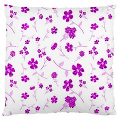 Sweet Shiny Floral Pink Large Cushion Cases (one Side)