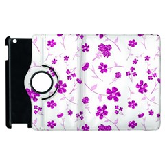 Sweet Shiny Floral Pink Apple Ipad 3/4 Flip 360 Case