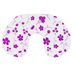 Sweet Shiny Floral Pink Travel Neck Pillows