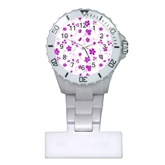 Sweet Shiny Floral Pink Nurses Watches