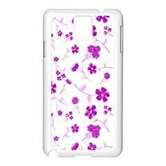 Sweet Shiny Floral Pink Samsung Galaxy Note 3 N9005 Case (white)