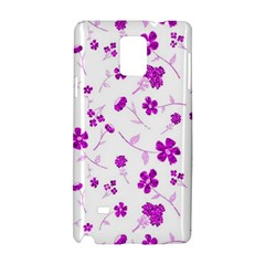 Sweet Shiny Floral Pink Samsung Galaxy Note 4 Hardshell Case