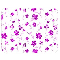 Sweet Shiny Floral Pink Double Sided Flano Blanket (Medium)