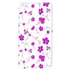 Sweet Shiny Floral Pink Galaxy Note 4 Back Case