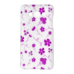 Sweet Shiny Floral Pink Samsung Galaxy A5 Hardshell Case
