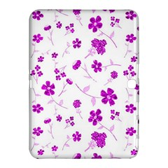 Sweet Shiny Floral Pink Samsung Galaxy Tab 4 (10.1 ) Hardshell Case